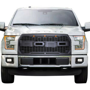 Raptor Style Conversion Front Grill For Ford F150 2015 2017 W Amber Led Lights