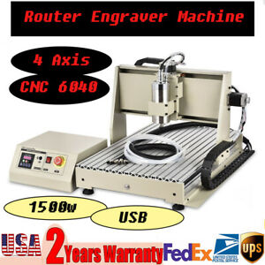 4 Axis Engraver Usb Cnc Router 6040 Engraving Drilling Milling Machine Woodwork