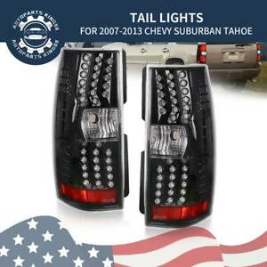 For 2007 2014 Chevy Tahoe Suburban Gmc Yukon Led Tail Lights Brake Lamp Pair L r