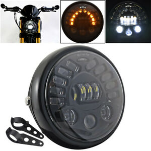 7 Universal Motorcycle Headlight Led High Low Beam Lamp For Bmw R1200 R Nine T