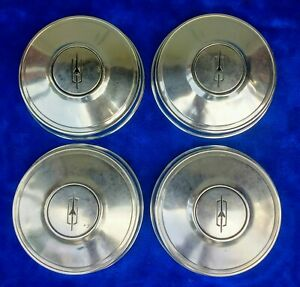 Vintage Gm Oem Oldsmobile Dog Dish Hub Caps Olds Poverty Hubcaps Cutlass 442