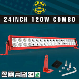24inch 120w Led Light Bar Flood Spot Combo For Offroad Suv Atv 4wd