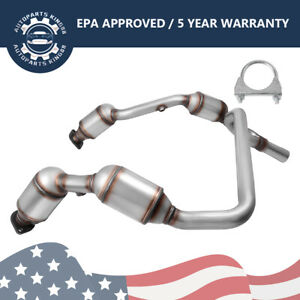 For 2007 2008 2009 Jeep Wrangler 3 8l Engine Y Pipe Catalytic Converter Epa Obd2