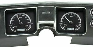 1968 Chevelle El Camino Dakota Digital Black Alloy White Vhx Analog Gauge Kit