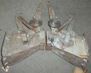1952 1953 1954 Ford Passenger Car Original Hood Hinges W Springs Pair