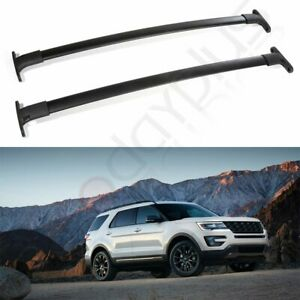 Top For 16 19 Ford Explorer Roof Rack Aluminum Cross Bars Cargo Luggage Carrier