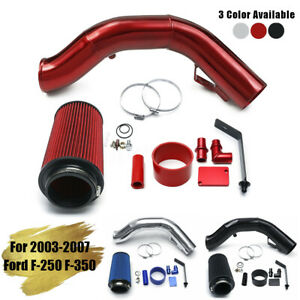4 Cold Air Intake Kit Pipe Filter For 03 07 Ford F 250 F 350 Excursion 6 0l