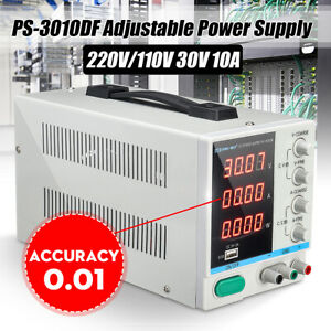 30v 10a Adjustable Dc Power Supply Precision Variable Digital Lab Test 110v 220v