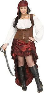 Pirate Queen Adult Womens Female Costume Dress Plus Size NEW $26.59