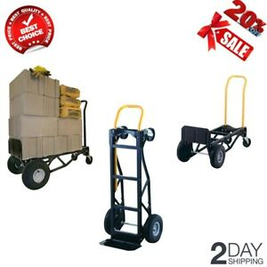 New Dolly 700 Lb Capacity 2 in 1 Convertible Hand Truck Trolley Moving Aid Cart