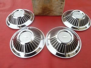 Vintage Nos 1963 Z11 Chevy Impala L79 Dog Dish Poverty Hubcaps Wheel Covers
