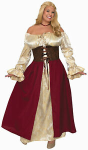 Medieval Wench Maiden Adult Womens Female Costume Dress PLUS Size NEW $39.90