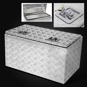30 Aluminum Camper Tool Box W lock Pickup Truck trunk Bed Atv Trailer Underbody