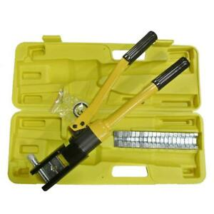 Practical 16 Ton Hydraulic Cable Crimper 11 Dies Carrying Case Crimping Tool