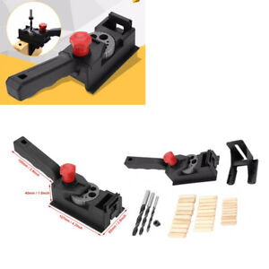 Woodworking Doweling Jig Kit Drilling Positioner Drill Straight Hole