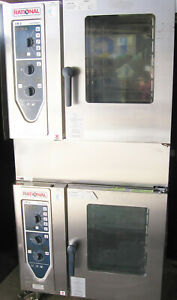 Double Two 2 Stack Rational Commercial Oven Combi Steam Convection Gas