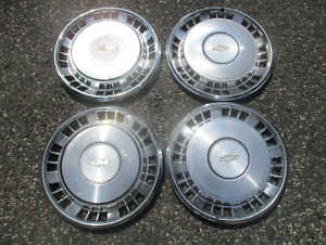 1981 To 1985 Chevy Impala Factory 15 Inch Hubcaps Wheel Covers Set