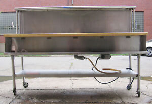 Five Pan Sealed Well Electric Water Bath Steam Table Stainless Steel Open Base