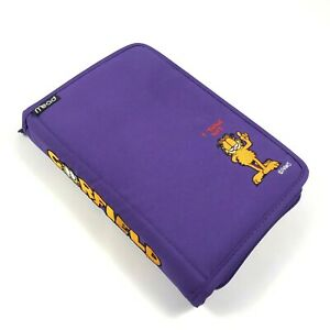 Vintage 90 s Mead Garfield Planner Purple i Think Not Nylon Case Never Used