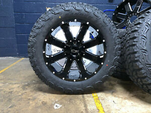 20x10 Ion 141 33 At Black Wheels Rims Tire Package 6x5 5 Chevy Silverado 1500