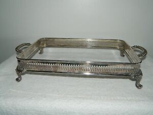 Wm Rogers Silver Plate Footed Casserole Dish Holder Buffet Chafing Stand
