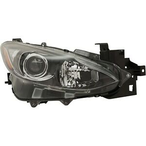 Headlight For 2014 2015 2016 Mazda 3 Hatchback Or Sedan Right With Bulb