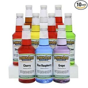 Shaved Ice Syrup 10 Pack Pints