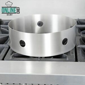 12 Heavy Duty Stainless Steel Restaurant Quality Round Wok Ring Bar Kitchen