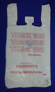Qty 500 Thank You T shirt Bags Plastic 11 5 X 6 5 X 22 Retail Shopping