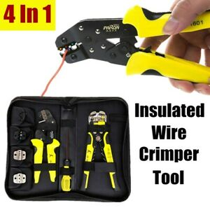 4 In 1 Crimping Tool Wire Crimper Plier Terminal Wire Connectors Ratcheting Set