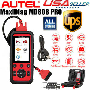 Autel Maxidiag Md808 Pro Automatic Diagnostic Scanner Scan Tool Obd2 Code Reader