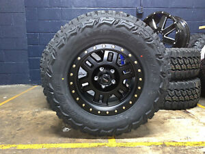 17x8 5 Vision 398 Manx Wheels Rims Tires Package 5x5 33 Mt Jeep Wrangler Jk Jl