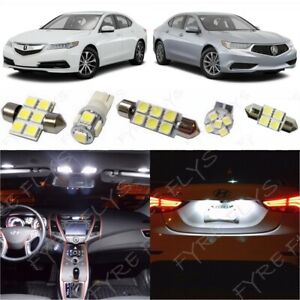 White Led Interior Lights 10pc Package Kit Fits 2015 2019 Acura Tlx tool Ax2w