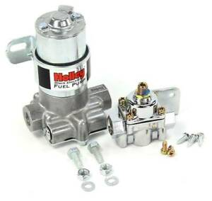 Holley Black Electric Fuel Pump W Chrome Low Psi Pressure Regulator 12 815 1