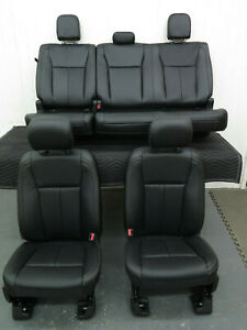 2015 2016 2017 2018 Ford F150 Crew Front Rear Leather Bucket Seats Dual Power