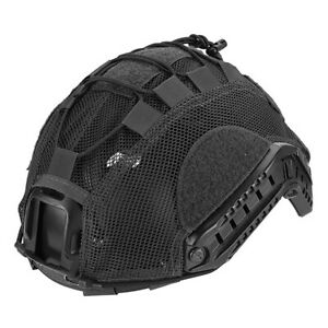 Lancer Tactical BUMP Helmet Cover Adjustable Lightweight Mesh Netting Black ML