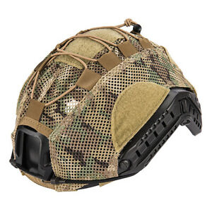 Lancer Tactical BUMP Helmet Cover Adjustable Lightweight Mesh Netting Camo ML