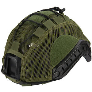 Lancer Tactical BUMP Helmet Cover Adjustable Light Mesh Netting OD Green ML