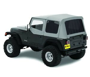 Bestop Factory Soft Top Skin For Jeep Yj Wrangler 88 95 Half Door Tinted Gray