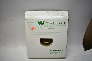 Wallace Sensormatic Ultra Max Labels Dispenser Box 1400 Roll opened 75 Left