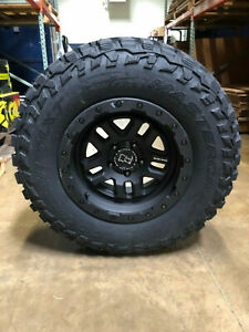 17 Black Rhino Barstow Wheels 33 Mt Tires Package 5x5 Jeep Wrangler Jk Jl