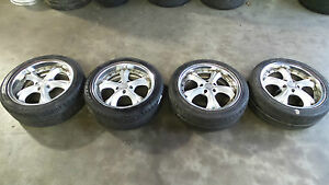 Jdm Vip Amistad Wheels Staggered Offset 18x8 5x114 3 S13 S14 Ucf10 Ucf20 Crown