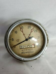 Vintage Antique Old Speedometer Convex Needle Ford Truck 1930s Part Tachometer