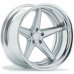4 Staggered 20x9 20x10 Vossen Vws3 Silver 5x112 45 48 Wheels Rims