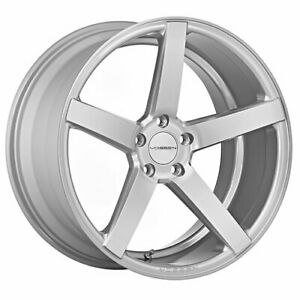 4 Staggered 20x9 20x10 5 Vossen Cv3r Silver 5x120 35 27 Wheels Rims