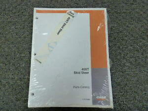 Case 40xt Skid Steer Loader Parts Catalog Manual Book New In Wrapper 7 7171na