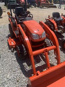 Kubota Bx2350 4x4 Farm Tractor W loader And 60 Belly Mower 210 Hrs
