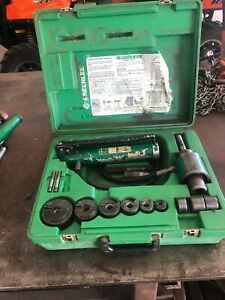 Greenlee 7306 1 2 Thru 2 Hydraulic Slug Buster Punch Set And Hand Pump