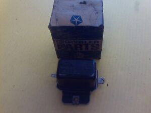 Nos Mopar Voltage Regulator 2098300 Dodge Charger Dart Plymouth Gtx 1966 69 Usa