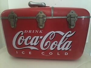 Vintage Coca-Cola Chest And Radio Cd Player Cool Box Nice Speakers